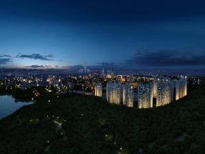 深圳淘金山湖景花园新房楼盘图片