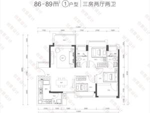 深圳满京华云曦花园新房楼盘户型图44