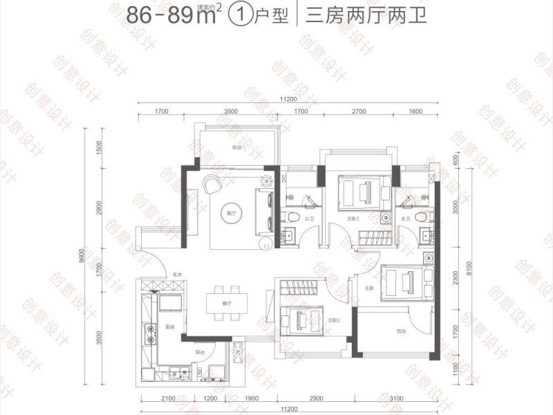 深圳满京华云曦花园新房楼盘户型图图片44