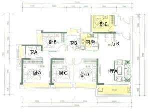 合正观澜汇 5室2厅 125.91㎡深圳龙华区观澜二手房图片